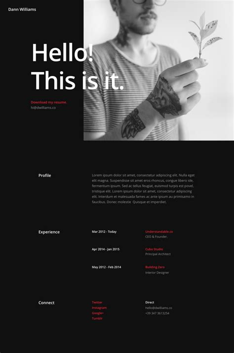 divi  resume pages layout pack elegant