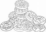 Coloring Donut Sweet Colorful Printable Donuts Coloringpagesfortoddlers Adult Sheets Yummy Detailed Space Cartoon sketch template
