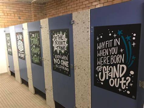 school bathrooms    game changers
