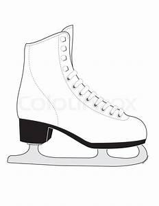 White Female Sports Skates For Figure Skating