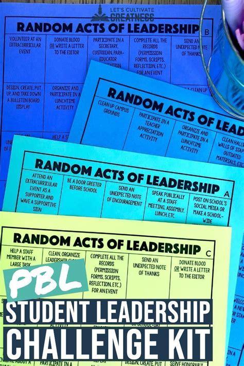 random acts  kindness leadership challenge game