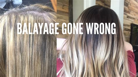 balayage  wrong color correction hair tutorial