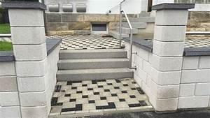 Blockstufen Beton Setzen : blockstufentreppe aus beton betonwerkstein waschbeton sandstein wagner treppenbau mainleus ~ Orissabook.com Haus und Dekorationen