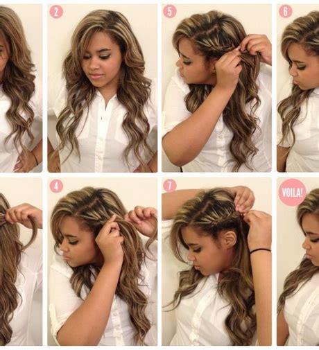 coiffures simples  faire soi meme
