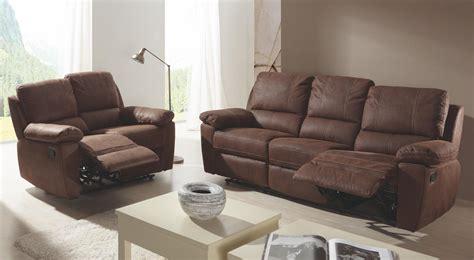 canapé 2 et 3 places cuir ensemble canapé de relaxation 2 et 3 places manuel cuir