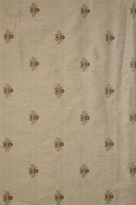 beautiful bee fabric for curtains cushions and blinds