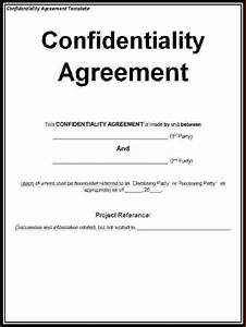 5 non disclosure agreement template freereport template With letter of confidentiality and nondisclosure template