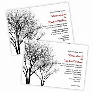 items similar to black and gray winter trees wedding With blank winter wedding invitations