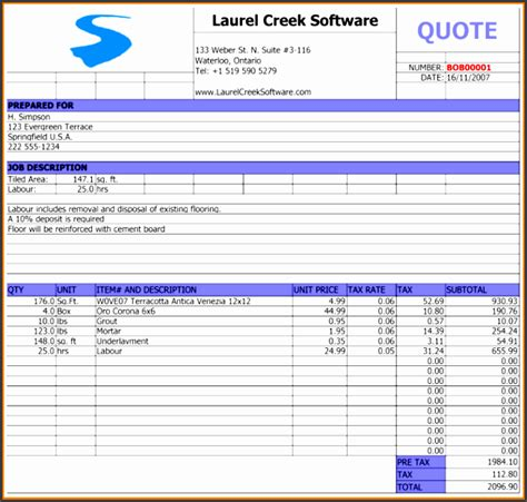 repair job estimate template sampletemplatess