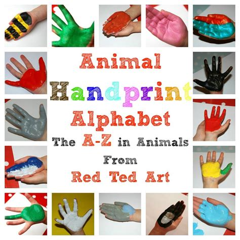 Charming Handprint Alphabet Crafts From Red Ted Art