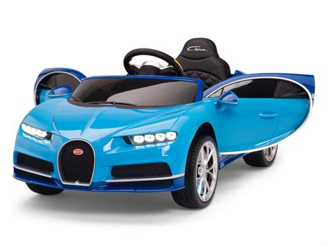 Com, the bugatti chiron is the fastest car in the world and it's also one of the most expensive it's, also the most beautiful and is my favorite car, so i'm really glad super rc car sent us this brand new car to review today, a big thanks to them and make sure you check them out in the link down below okay, so here's the book, a great box that looks like a little garage, i can't wait. Official Bugatti Chiron kids Ride on Car with Remote Control & Rubber Wheels - Blue - Kids Vip