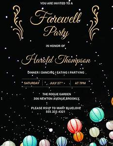 free chalkboard invitation template 10 farewell party invitations jpg psd vector eps ai