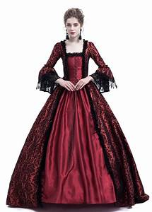 Style Chart Red Ball Gown Victorian Masquerade Dress D3019 D