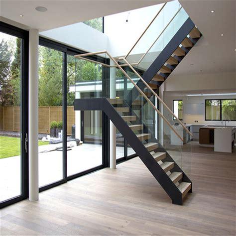 modern indoor garden style mono beam staircase design