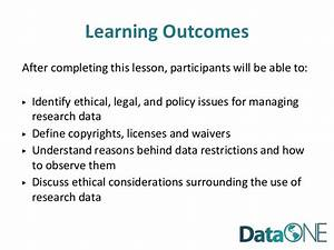 DataONE Education Module 10: Legal and Policy Issues