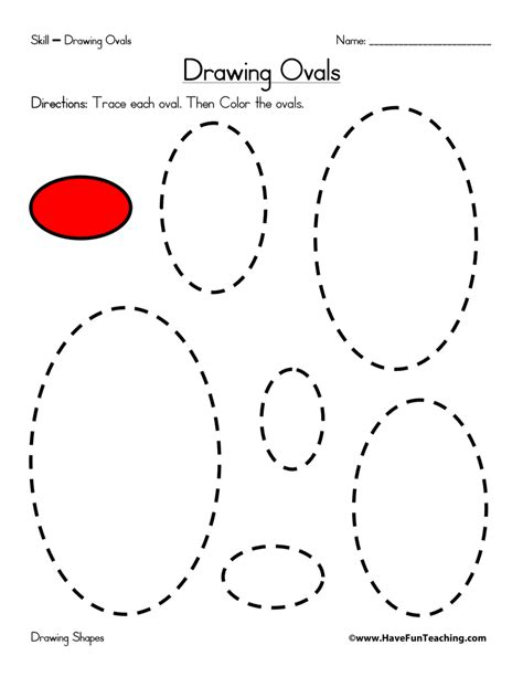 drawing ovals worksheet teaching