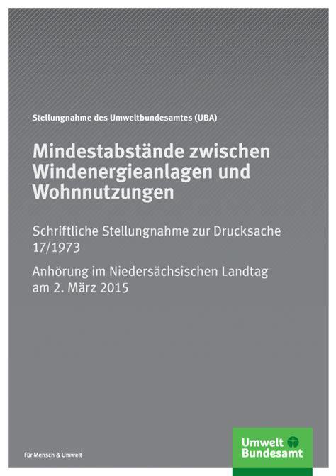 Schutz Gegen Laerm Aus Gebaeudetechnischen Anlagen by L 228 Rm Windenergieanlagen Umweltbundesamt