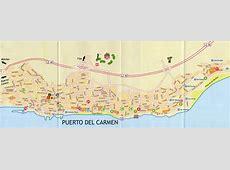 The town of Puerto del Carmen in Lanzarote