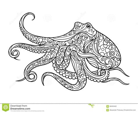 Kleurplaat Octopus by Octopus Clipart Coloring Book Pencil And In Color