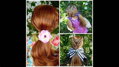 cute and easy hairstyles for american girl dolls cute american girl doll hair salon hairstyles youtube