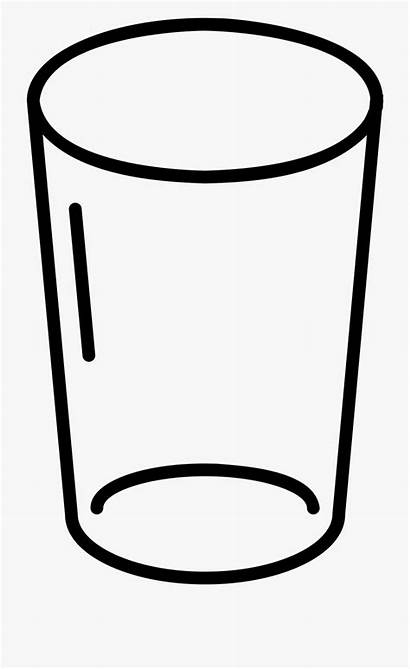 Glass Coloring Water Empty Clipart Pages Cartoon