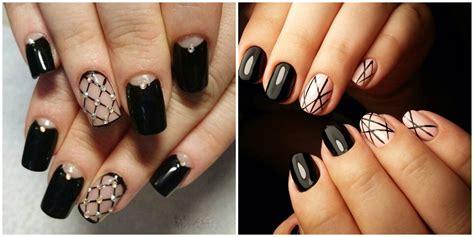 black nail designs   tips   stylish dark