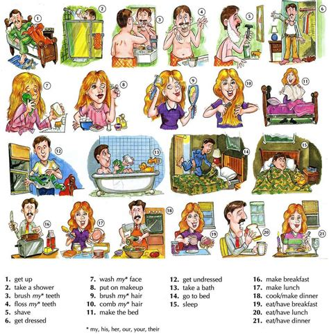 basic english  daily routine