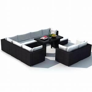 Lounge Set Rattan : vidaxl 28 piece dining lounge set black poly rattan ~ Whattoseeinmadrid.com Haus und Dekorationen