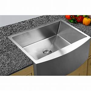 33quot x 2225quot curved apron front single bowl undermount kitchen sink wayfair With 25 apron front sink