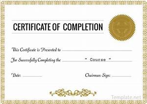 free editable certificate of completion popular and With class completion certificate template