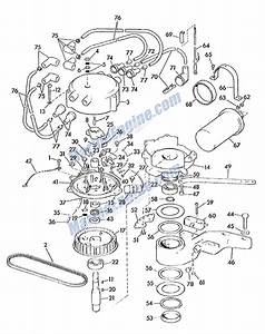 Evinrude Distributor Parts For 1963 75hp 75382 Outboard Motor