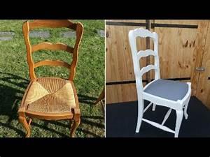 moderniser une chaise de type louis xv en chene et paille With peindre une chaise en bois