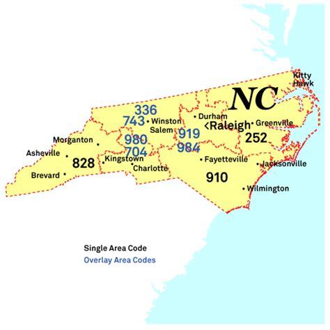 carolina phone code carolina area codes map map