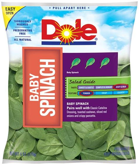 Dole Baby Spinach 6 oz. Bag | Hy-Vee Aisles Online Grocery ...