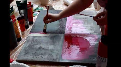 acrylmalerei abstrakt tutorial marmormehl