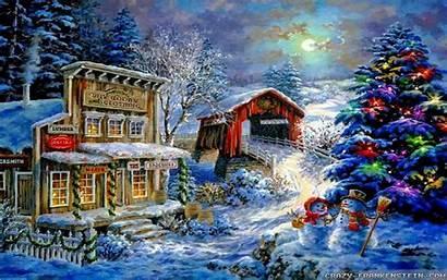 Snow Christmas Scenes