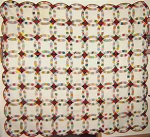 you have to see antique wedding ring quilt by linpiration With wedding ring quilt