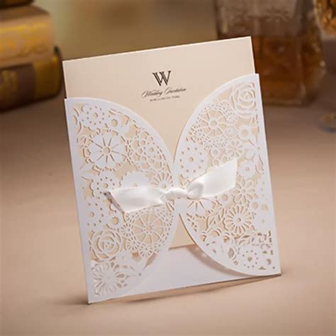 carte d invitation mariage 50 pcs carte d invitation de mariage en papier nacr 233