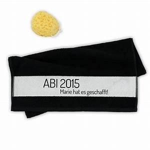 Persönliches Geschenk Jahrestag : personalisiertes handtuch zum abi ein pers nliches geschenk als unikat geschenkegarten ~ Frokenaadalensverden.com Haus und Dekorationen