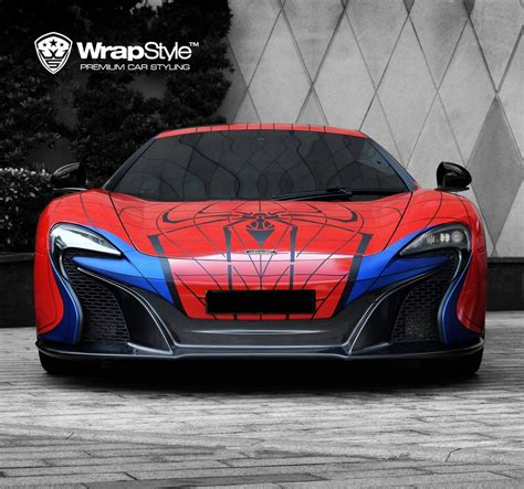 voiture de sport wrapstyle shows off superhero foil for supercars