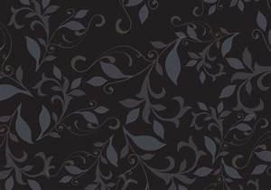 Dark floral pattern background vector - Download Free ...