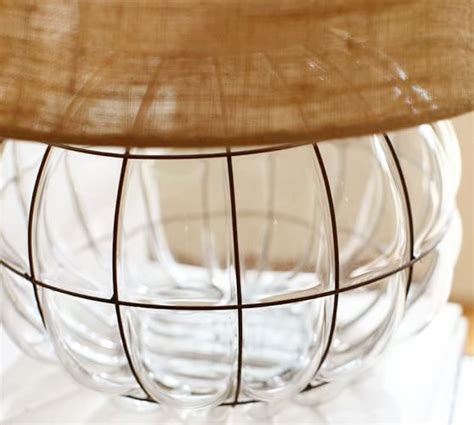 caged glass table l pottery barn
