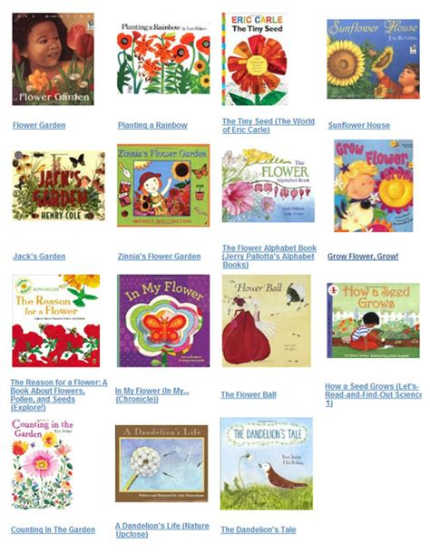 flowers rhymes songs and books for preschool and 515 | Flowerbooks 0