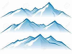 Snow mountain clipart - Clipground