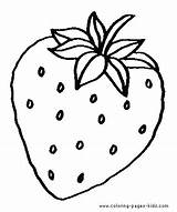 Coloring Strawberry Pages Printable Strawberries Fruit sketch template