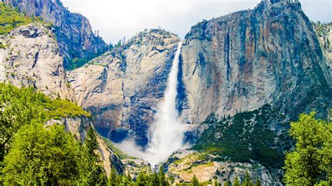 Yosemite Falls Waterfall California Wallpaper