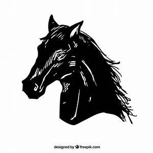 Black horse head vector illustration Vector | Free Download