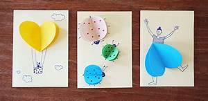 Einfache Krippe Selbst Basteln : 3d karten mit herzen mit kindern basteln ~ Orissabook.com Haus und Dekorationen