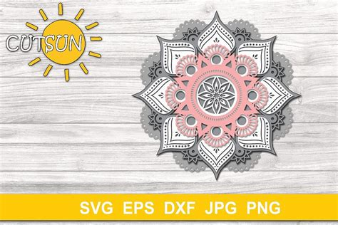 Free layered mandala greek alphabet svg cut files for cricut, silhouette, and other electronic cutting machines or lasers. Pin on 3D Layered SVG Designs - 3D Mandala Zentangle SVG