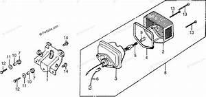 Honda Atv 1982 Oem Parts Diagram For Taillight